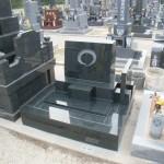 【洋型オリジナルデザイン墓石】まる 市営岡崎墓園~やすらぎ墓園~